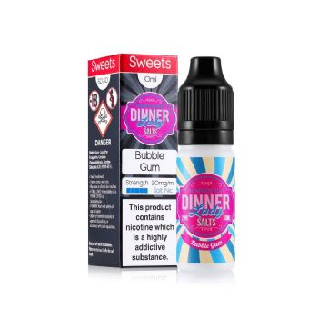 Dinner Lady Bubble Gum Nic Salt 10ml